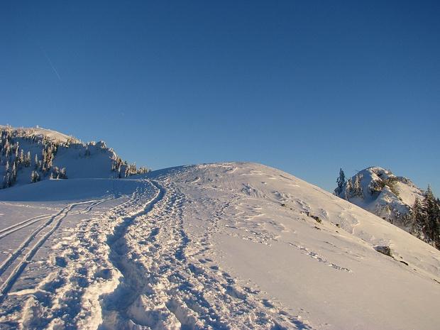 Moarbichl im Winter, stets von Wanderen gespurt