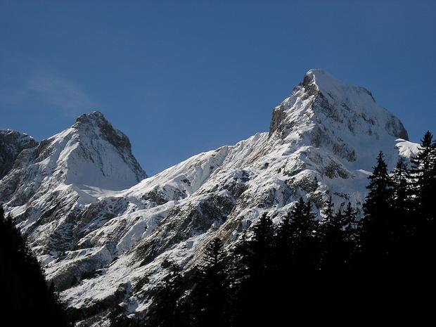 Beim Aufstieg zur Baumgartalpe eröffnete sich mir plötzlich ein herrlicher Blick zu Tajaspitze und Muttlerkopf.