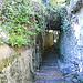 La scalinata che scende a Ponte Lambro