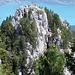 die Ansicht der Kletterei mit Zoom