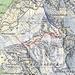 Meine begangenen Routen auf den Rund (2267m): <br /><br />- Walengrat (blau; T6+ / WS+; Fels III) <br />- SW-Flanke (rot; T5; Fels I).