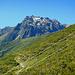 Am Weidezaun der Oberen Röbi Alpe mit Blick zur Gargellner Madrisa (2.770m)