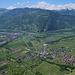 Nochmals Malans, darüber das St. Galler Oberland