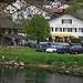 Hotel du Cerf in Soubey. Hier kann man sehr gut übernachten und frische Doubs-Forellen geniessen