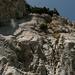 Gulmen Ostabbruch, ohne Sicherung kaum kletterbar (mindestens V, grasig)