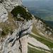 """Überhängender Süd""""pfeiler"""" Gätterifirst, von der Legföhrenkanzel liesse sich der Gipfel erreichen, aber wie dort hin?!"""