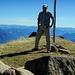 Nach gut 4 1/4 h Aufstieg und 1400 Höhenmetern kann das traumhafte 360° Panorama vom Gipfel des Alvier genossen werden.