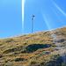 Die Schweizer Fahne am Gipfel des Alvier.