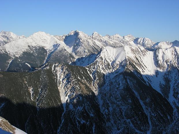 Blick von der Seefelder Spitze ins Karwendel.