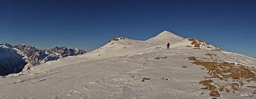 Gesamtschau des Gipfelrückens