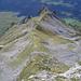 Wenig verdeutlichte Steilheit. Auf den oberen Grasplanggen des Druesberg-Südaufstiegs.
