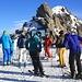 Spätestens bei der Bergstation Gemsstock trennen sich die Wege von Pistenskifahrer und Tourengänger.