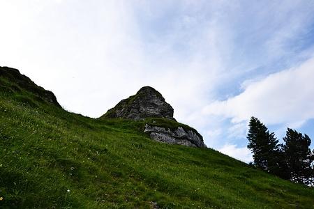 Der kleine Gipfel des kleinen Schlafsteins.