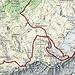 Map unserer Tour Das nördliche Forstbergband ist steil und nur bei sehr guten Verhältnisse zu machen.