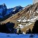 Mont Chauffé et chalets Toper vus depuis le Col de Verne 1814m