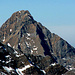 il monte Pisanino visto da sudest con parte della cresta della Mirandola sulla dx...