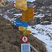 ab hier ist der Weg mit hartem Schnee verdeckt