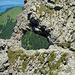 Der anspruchsvolle Teil des Drei-Schwestern-Steigs endet bei einem Felsentor.