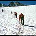 Pico de la Maladeta (Mitte) vom Glaciar de la Maladeta, Pyrenäen, Spanien
