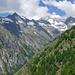 Blick zurück zu den steilen Hängen der Honalpa