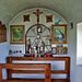 Inneres der kleinen Kapelle