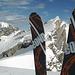 Aussicht auf zukünftige Sommergipfel. Leider war hier Endstation mit Skiern auf dem Grat.