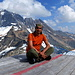 resting on the Helicopter park place on the territory PlanuraHütte with amazing view. <br />Tödi in the background.