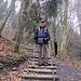 Eduard im Abstieg Richtung Ränggloch
