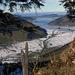 Der mehrheitlich gefrorene Sihlsee.
