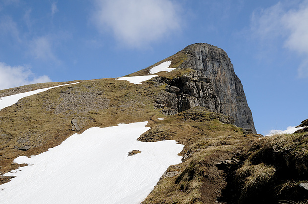 Rossstock, 2461m. Beim Abstieg klarte es auf