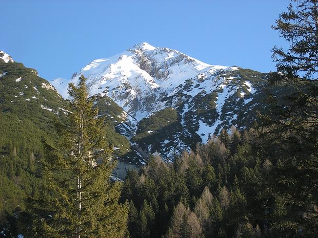 Blick von der Reitherjochalm zur Reither Spitze