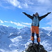 Auf dem Gipfel des Piz Minor 3039m (hinten lachen die Grossmeister Piz Berina und Piz Palü)