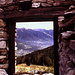 Vista sulla Valle :vigezzo da una baita diroccata dell'Alpe Rosso
