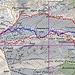 linea rossa: salita e discesa di ieri (2014) linea blu: salita e discesa febbraio 2004.