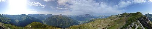 360 Grad Panorama vom Güntelchamm.