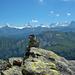 Steinige Matte: Blick zu den Alpen