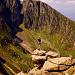 Posieren über dem Kar des Lochnagar