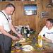l'amico Gianluigi salito il giorno successivo con Roberto: il taglio del formaggio per la taragna