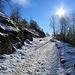 Fino ai 900 m ci sono pochi cm di neve