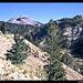 Lassen Peak von der Zufahrt zum Nationalpark von Süden, Kalifornien, USA