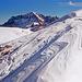Schöner Tödiblick vom fast komplett schneebedeckten Ostgrat.