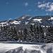 Blick hinauf ins Skigebiet der Hornflue