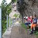 Verdiente Pause auf dem Rigi-Felsenweg.