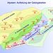 Alpstein: Aufteilung der Gebirgsketten