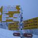 Wo geht's da hin? Neue Schrift auf Wegweisern im Schneesturm