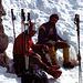 Guy Filippa und Christian Scherrer. Der jüngste der Scherrer-Brüder die an der Schijenfluh Westwand 1971 die lange Zeit schwerste Führe im Rätikon eröffneten