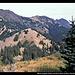 Mount Angeles (links), Klahhane Ridge (Mitte) und Rock Peak (rechts) vom Hurricane Ridge, Olympic NP, Washington, USA