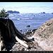 Ozette Island (links) und Bodelteh Islands (rechts) vom Beach Trail, Ozette Loup, Olympic NP, Washington, USA