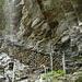 """""""Scalata grande"""", visibile sulla sinistra la cascata sotto la quale siamo passati."""