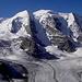 l'imponente Piz Palù,visto dai pressi del rifugio Diavolezza